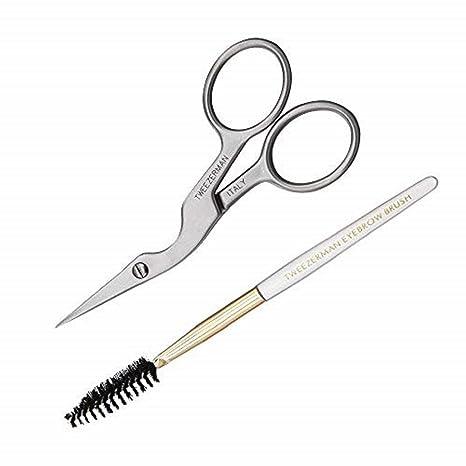 Tweezerman Stainless Brow Shaping Scissors and Brush
