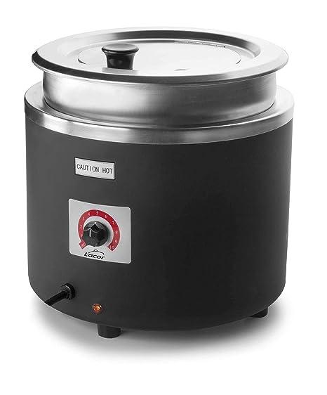LACOR 69267-Olla Calentador Sopa eléctrico, Inoxidable, 800 W, Acero 18/10