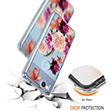 Google Pixel 2 Case Crystal Clear,LUHOURI Floral