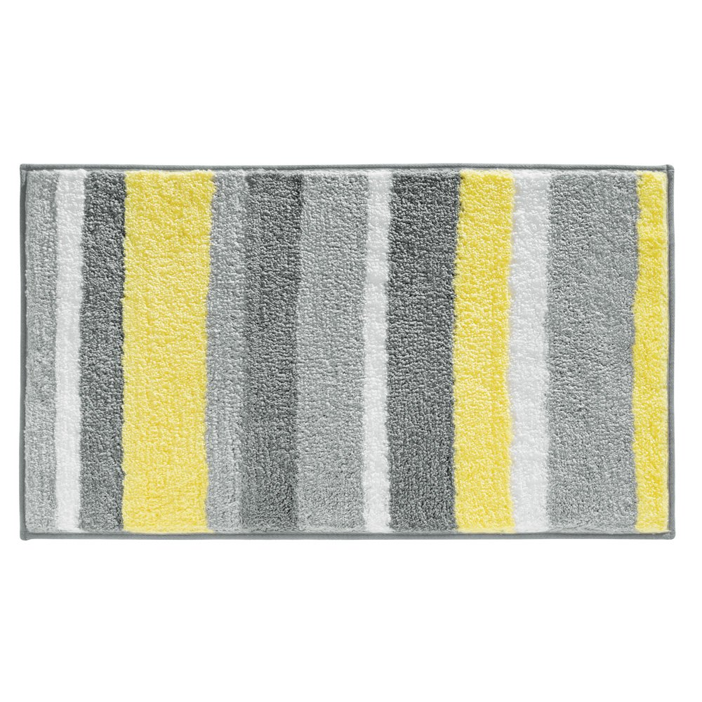 Yellow and grey bath rug roselawnlutheran for Yellow and gray bathroom sets