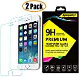 4youquality [2-Pack} iPhone 6 PLUS / 6S PLUS Screen Protector, Premium Tempered Glass Film [LifetimeWarranty][Scratch-Resistant][Anti-Shatter] Screen Protector For Apple iPhone 6 Plus and 6S Plus