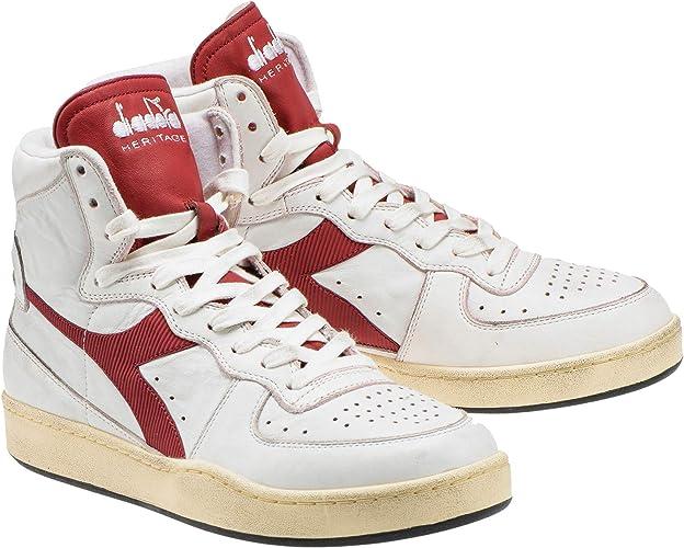 Diadora Mi Basket Used White Brick Red 201.15856901C7644