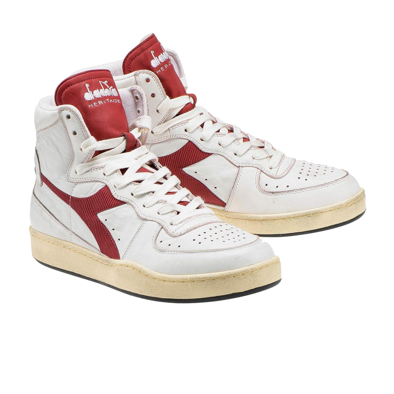 0045d450 Diadora Mi Basket Used White Brick Red 201.15856901C7644: Amazon.co ...