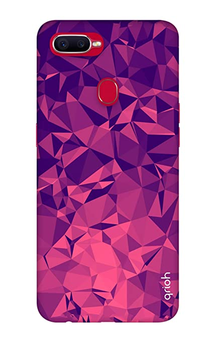 pretty nice 5cf70 e0f6e Qrioh Printed Designer Back Case Cover for Oppo F9 Pro-Purple Diamond  Case-340MG2AMSBF1726