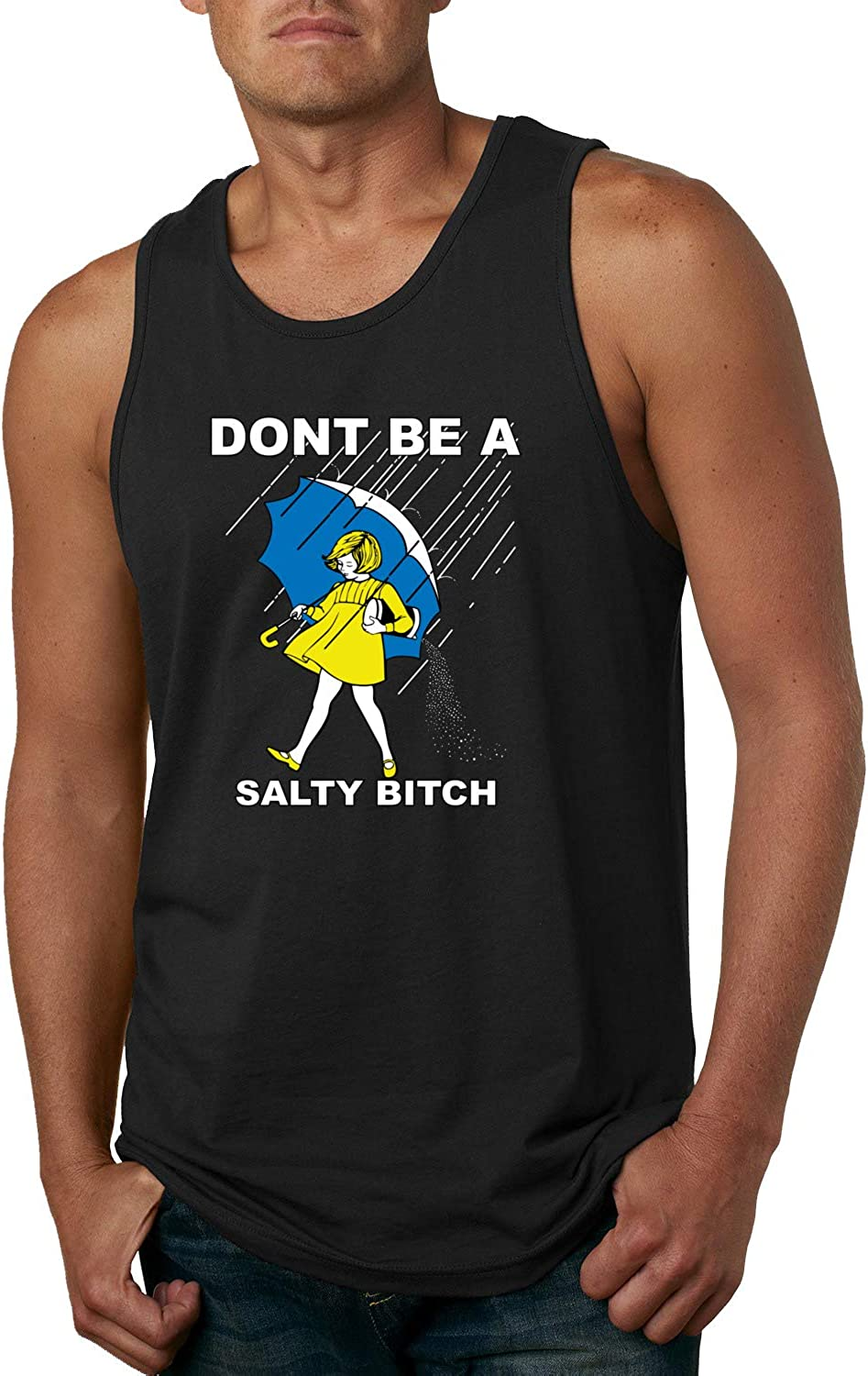 Wild Bobby Don't Be a Salty Bitch | Mens Humor Graphic Tank Top