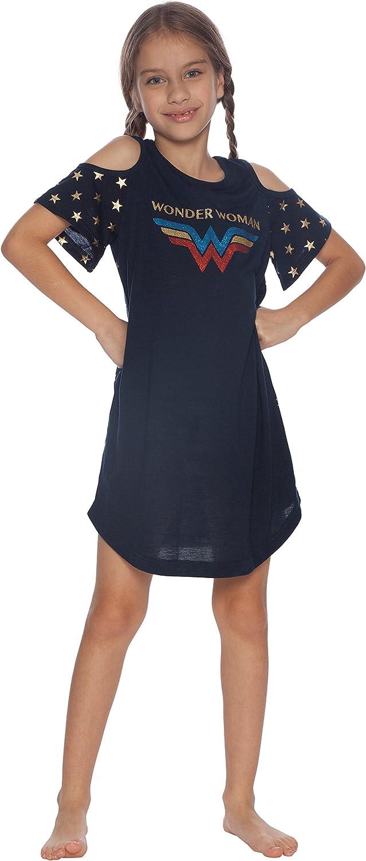 DC Comics Girls Wonder Woman Cold Shoulder Glitter Nightgown