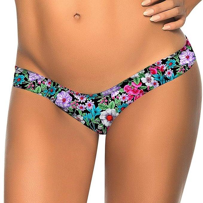 Amazon.com: Keepfit Mujer Impresión De Flores parte inferior ...