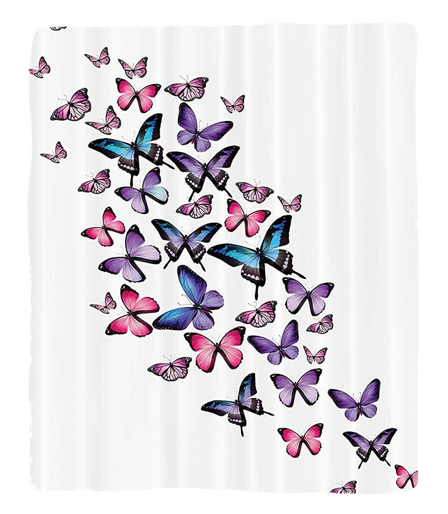 Chaoran 1 Fleece Blanket on Amazon Super Silky Soft All Season Super Plush Butterflies Decoration etMany Different Butterflies Big Wingstylish Feminine Companionship Fun Accessories Extralong by chaoran