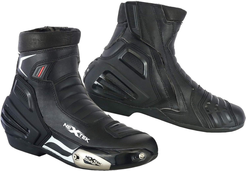 Rextek Motorradstiefel Motorradschuhe Rennstiefel Stiefelette Motorrad Offroad Touring Schuhe Wasserdicht Gepanzert Für Herren Jungen Biker Auto