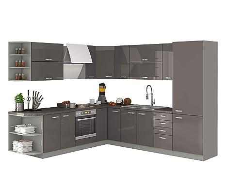 Mirjan24 Küche Multiline I, Küchenblock/Küchenzeile mit ...