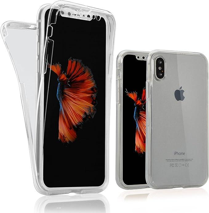 Cover per iPhone X 360°, Custodia per iPhone X , Bonice Ultra Sottile TPU Morbido Full Body Front Retro TPU Protezione Resistente Ai Graffi ...