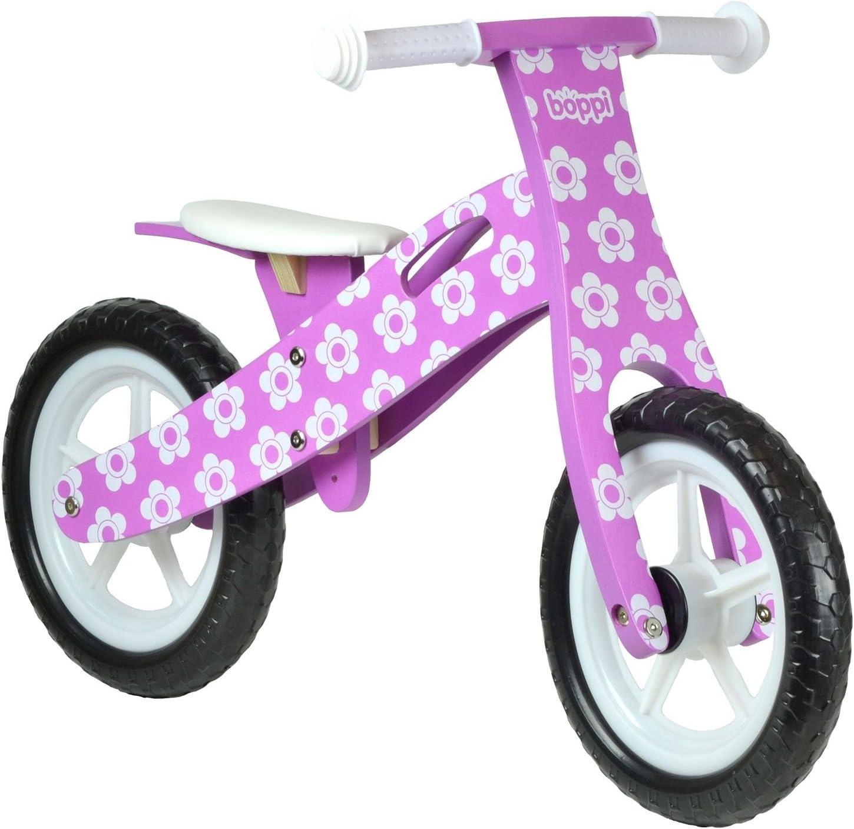 boppi® Bici sin Pedales de Madera para niños de 2-5 años - Violeta con Flores