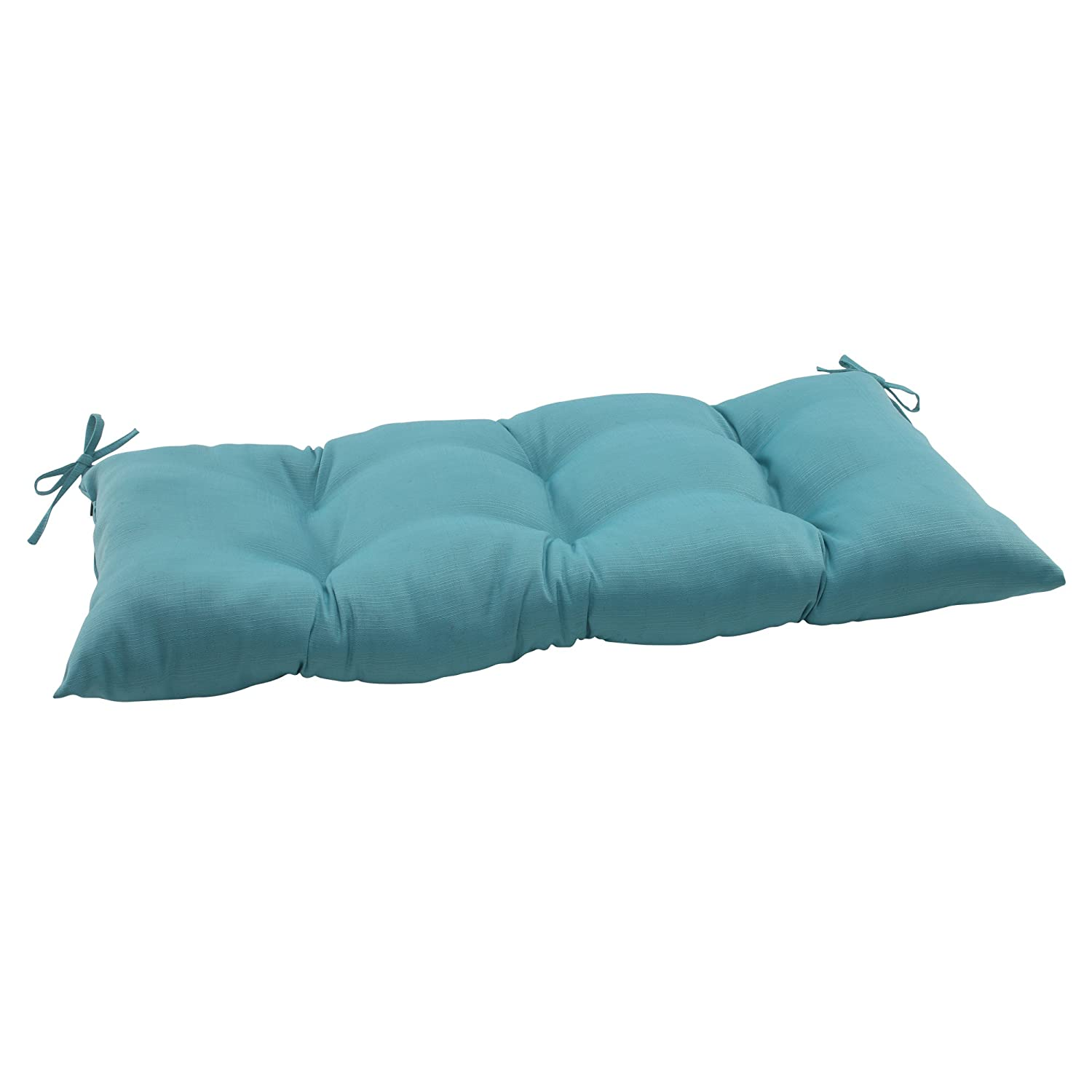 Pillow Perfect Indoor Outdoor Forsyth Turquoise Swing Bench Cushion
