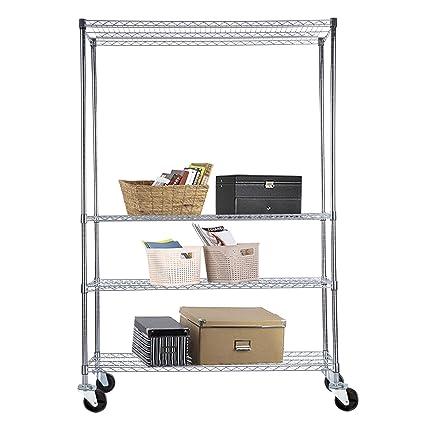Amazon.com: SUNCOO Wire Shelving Unit Storage Rack Metal Kitchen ...