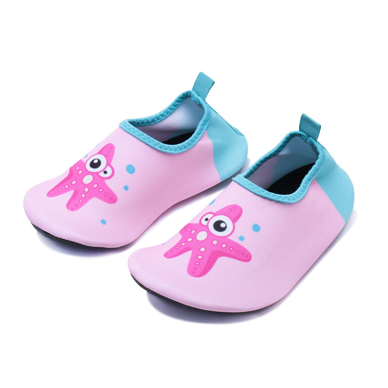 WXDZ Kids Water Shoes Swim Shoes Mutifunctional Quick Drying Barefoot Aqua Socks for Beach Pool US Toddler 7.5-8.5 M Green Octopus 24//25