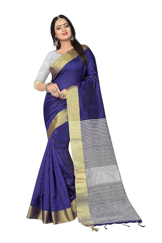 bluee 9 Fashions Trendz Indian Sarees for Women Wedding Designer Party Wear Traditional Sari.