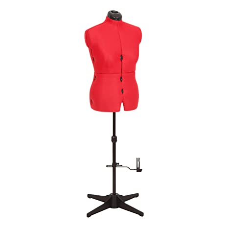 Adjustoform Maniquí de costura ajustable, busto de mujer de 8 piezas para coser de color