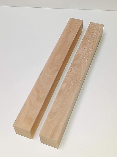 4 St/ück Tischf/ü/ße Kanth/ölzer 48x48mm stark Eiche massiv Kantholz Leisten drechseln bastel Holz Sonderma/ße. 48x48x400mm lang.