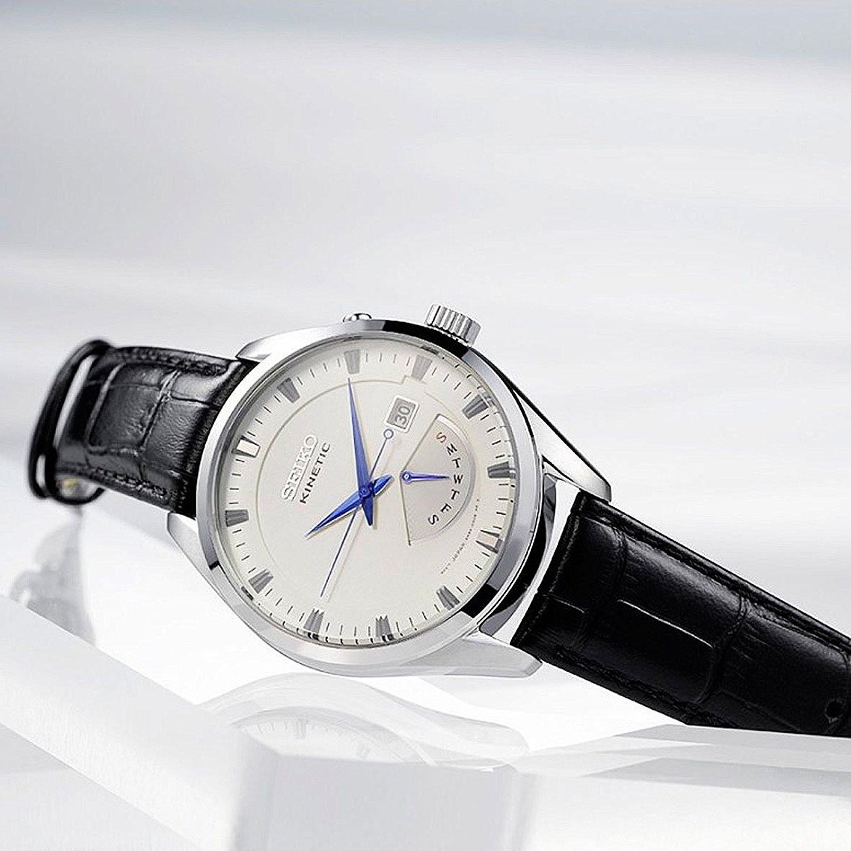 Seiko Reloj Analógico para Hombre con Correa de Cuero - SRN071P1: Amazon.es: Relojes