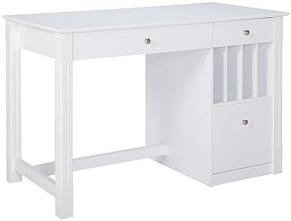 Pleasant Walker Edison White Wood Computer Desk Interior Design Ideas Skatsoteloinfo