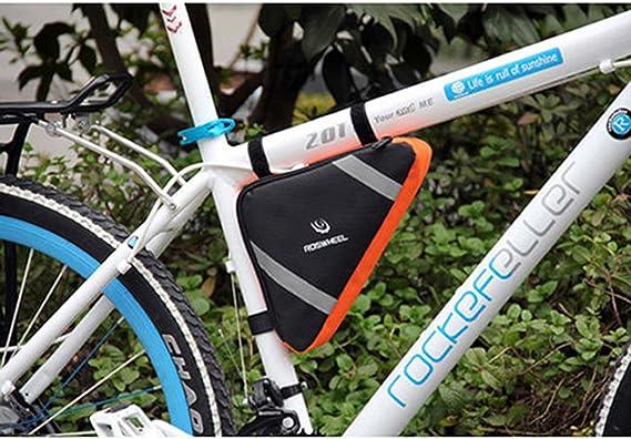 LIOOBO Bolsa de Almacenamiento de Bicicleta Deportiva Bolsa tri/ángulo Bolsa de sill/ín para Ciclismo