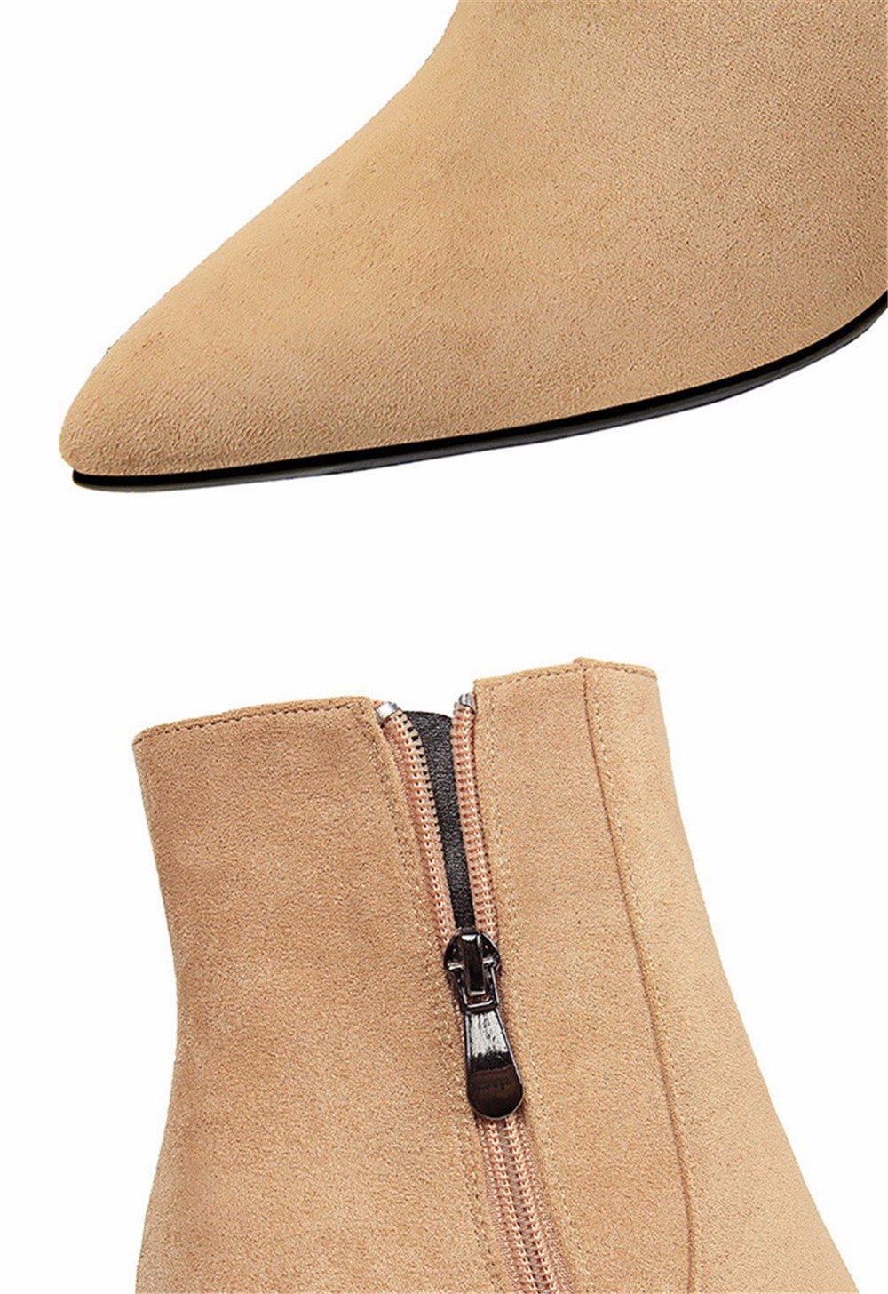 FLYRCX Herbst und Winter dicke warme Leder dicke Ferse Ferse Ferse und Stiefel Damen Party High Heels dfae2c