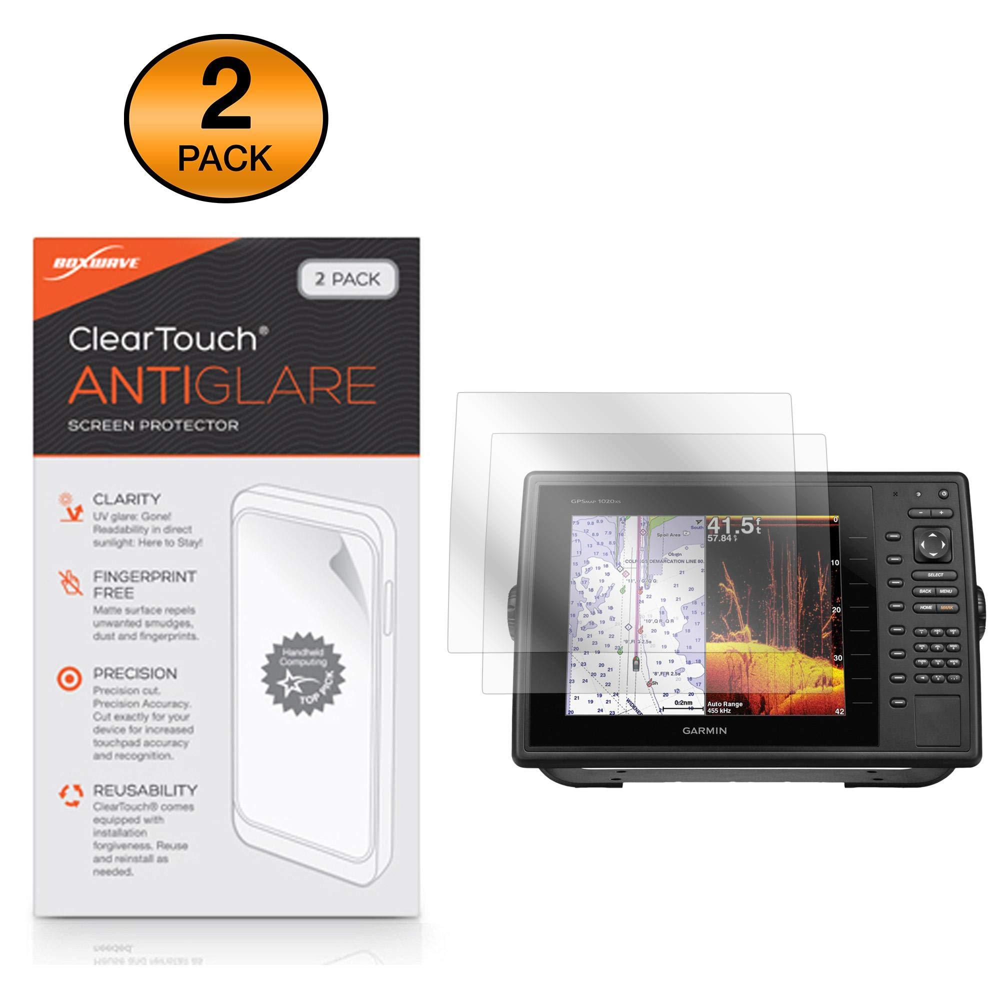 Garmin GPSMAP 1040xs Screen Protector, BoxWave [ClearTouch Anti-Glare (2-Pack)] Anti-Fingerprint Matte Film Skin for Garmin GPSMAP 1040xs, 1020xs, 1020 by BoxWave