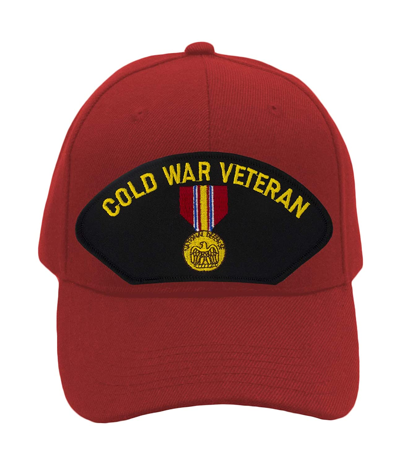 Cold War Veteran Era Hat//Ballcap Adjustable One Size Fits Most Patchtown National Defense Service Medal