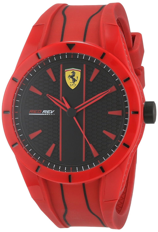 Scuderia Ferrari Reloj Analógico para Hombre de Cuarzo con Correa en Silicona 830496