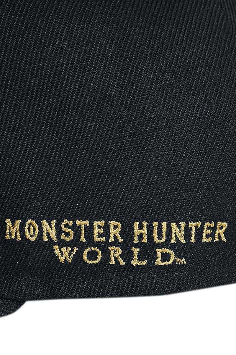 Bioworld Monster Hunter World Embroidered Logo Snapback Baseball Cap