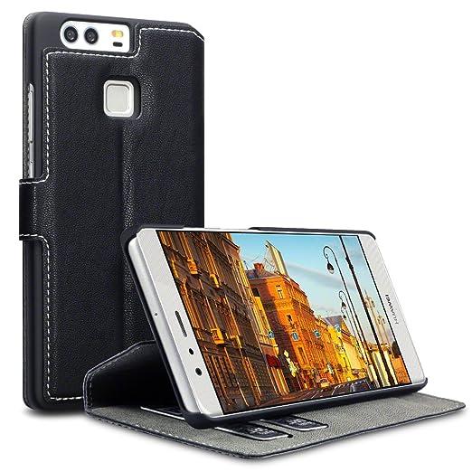 21 opinioni per Huawei P9 Cover, Terrapin Cover di Pelle con Funzione di Appoggio Posteriore per