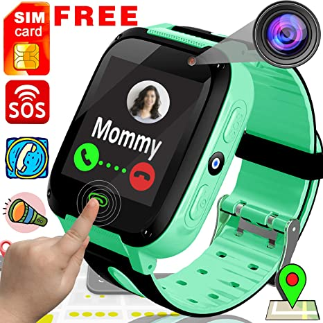 TURNMEON [Free SIM Card] Kids Smart Watch Phone Smartwatches - Cellphone Watch HD Touchscreen Anti-Lost SOS Call Girls Boys Voice Chat Remote Camera ...