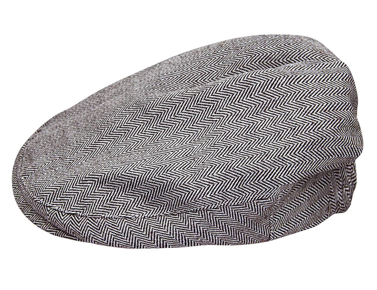 mintgreen Baby Fischgr/ätenmuster Flach Deckel Vintage Fahrer Hut mit Futter Alter 44-56EU//0-8 Jahre Dick und Weich