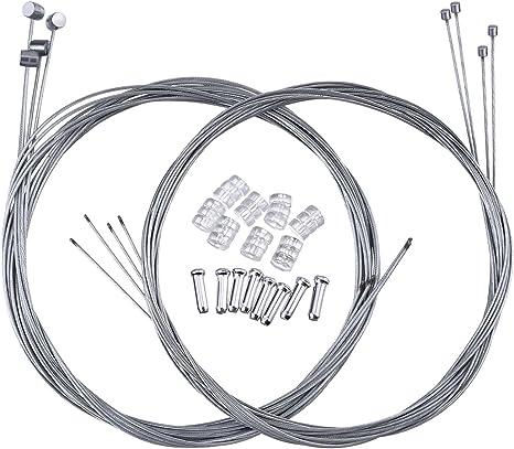 Hotop 2 Set Cable de Freno de Bicicleta de Montaña Alambre de ...