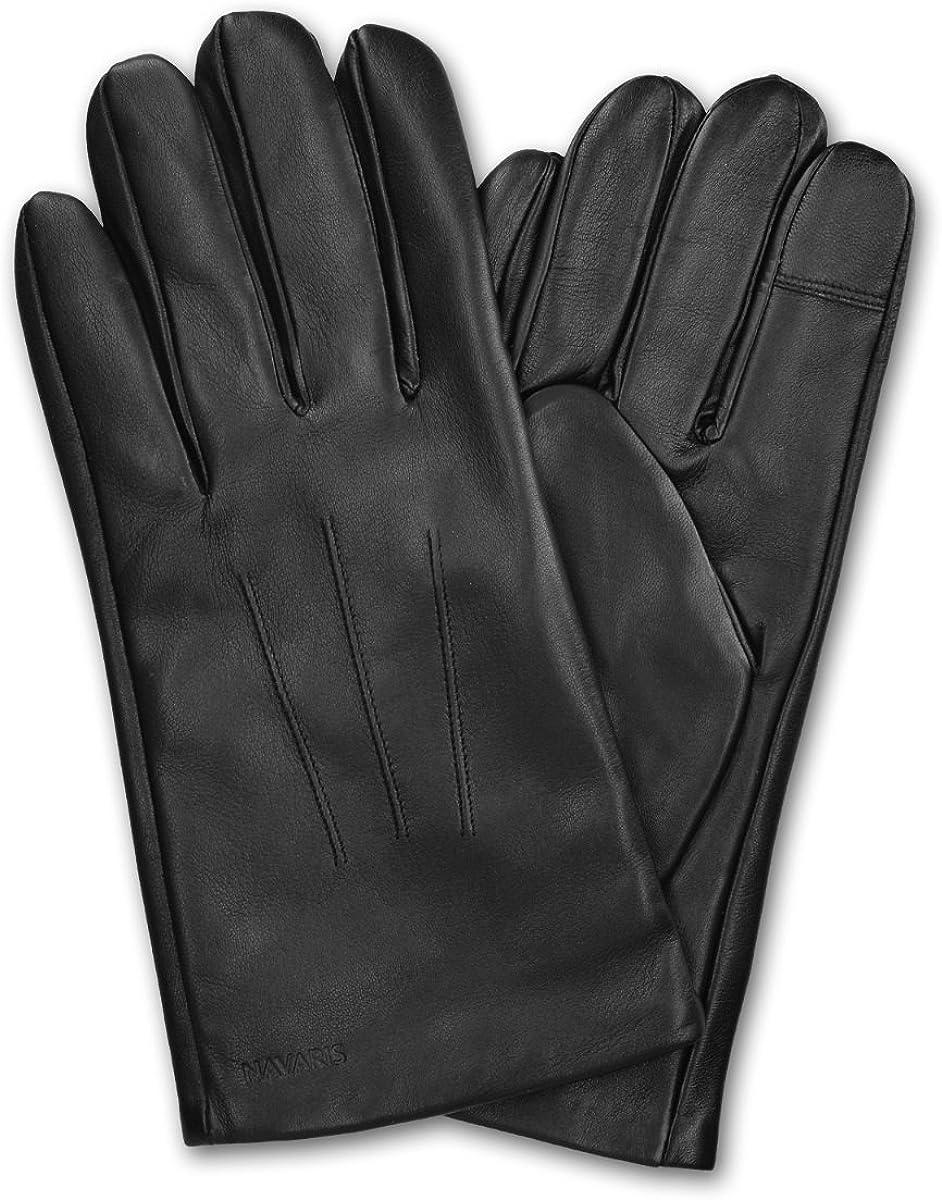TALITARE Guanti in pelle da uomo con touchscreen figlio pap/à e nonno guanti invernali morbidi impermeabili antiscivolo Fodera in cashmere caldo Ottimo regalo per marito