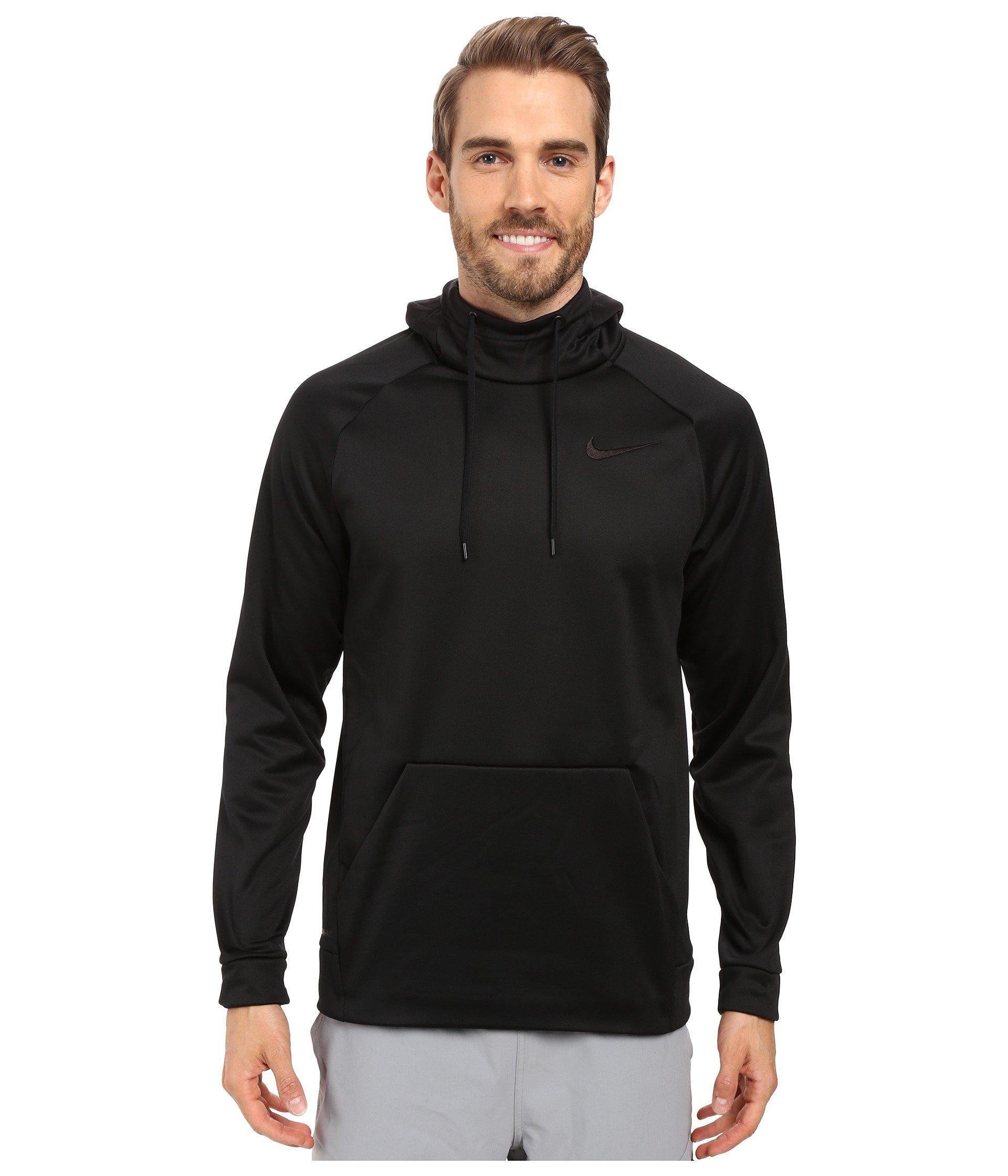 Nike Men's Therma Training Hoodie Black/Dark Grey Size XXX-Large by Nike