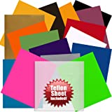 "Angel Crafts 12"" x 10"" SISER Easyweed Heat Transfer Vinyl Sheets (16 PACK) w/ Teflon Sheet for T Shirts, Hats, Clothing - Best Iron On HTV Vinyl for Silhouette Cameo, Cricut or Heat Press Machine Tool"