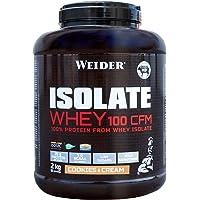 Weider Isolate Whey 100CFM. 100% aislado de proteina de suero. Cero azúcar, cero aspartamo, con stevia, con dygezime…