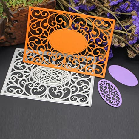 Round Square Oval Frame Album Cutting Die and Hot Foil Die Set DIY Stencil Craft
