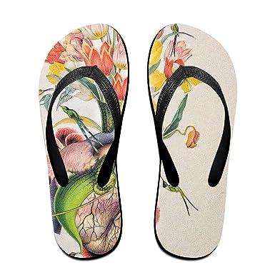 235d4b93c335 Couple Slipper Flower Grow In Heart Print Flip Flops Chic Sandals Rubber  Non-Slip House