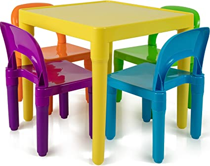 Kids Table and Chairs Set - Toddler Activity Chair Best for Toddlers Lego,  Reading, Train, Art Play-Room (4 Childrens Seats with 1 Tables Sets) Little  ...