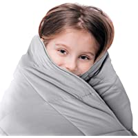 Luna Kids Weighted Blanket - Individual Use - 5 Lbs - 36x48 - Child Size Bed - 100% Oeko-Tex Cooling Cotton & Glass…