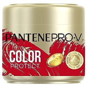 Pantene Pro-V Color Protect Keratin Reconstruct Hair Mask for Coloured Hair, Hair Care Shine, Hair Treatment, Hair Mask, Beauty, Gold, 300 ml