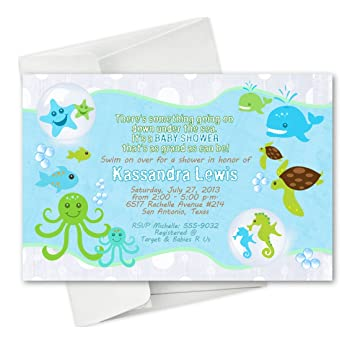 Nautical Baby Shower Invitations Beach Baby Shower Starfish Invites