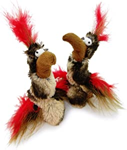 Pet Craft Supply Co. Kitty Condor Crazy Catnip Cuddler Funny Cuddling Chasing Hunting Irresistible Stimulating Soft Plush Boredom Relief Interactive Cat Toy with Realistic Feathers
