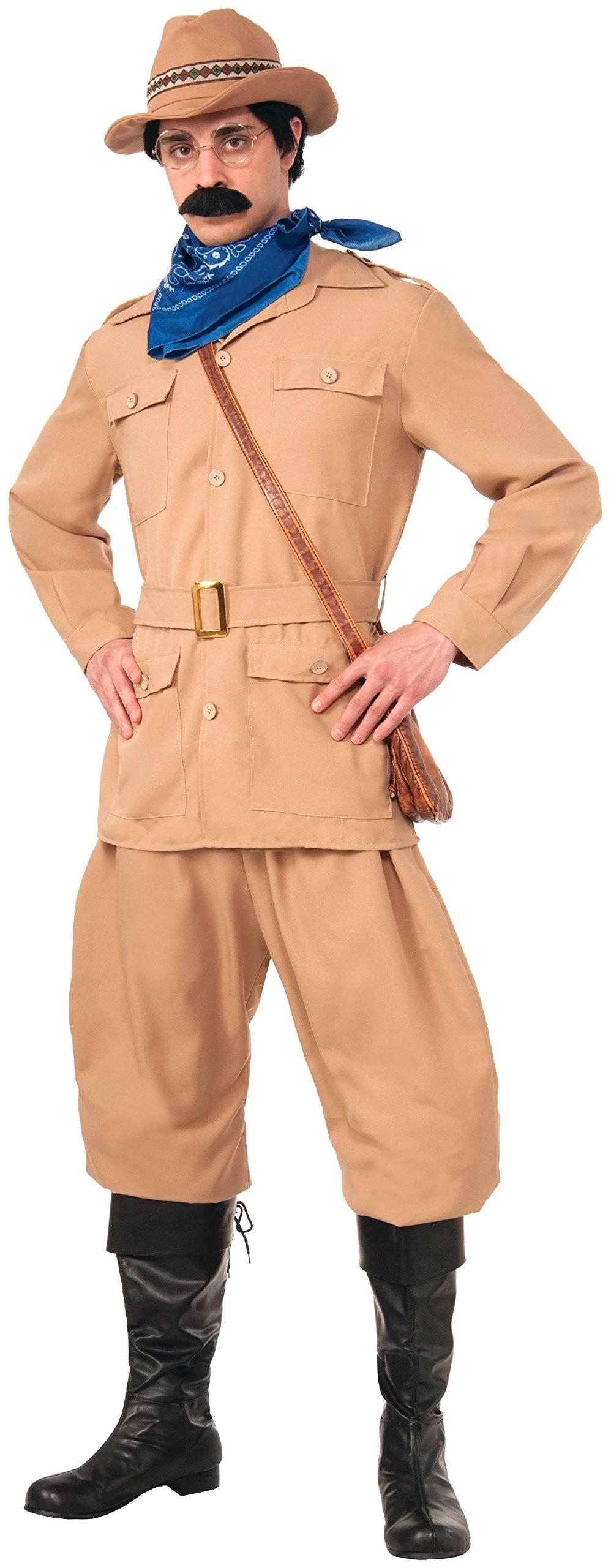 Forum Novelties Men's Theodore Roosevelt Deluxe Costume, Brown, Standard by Forum Novelties