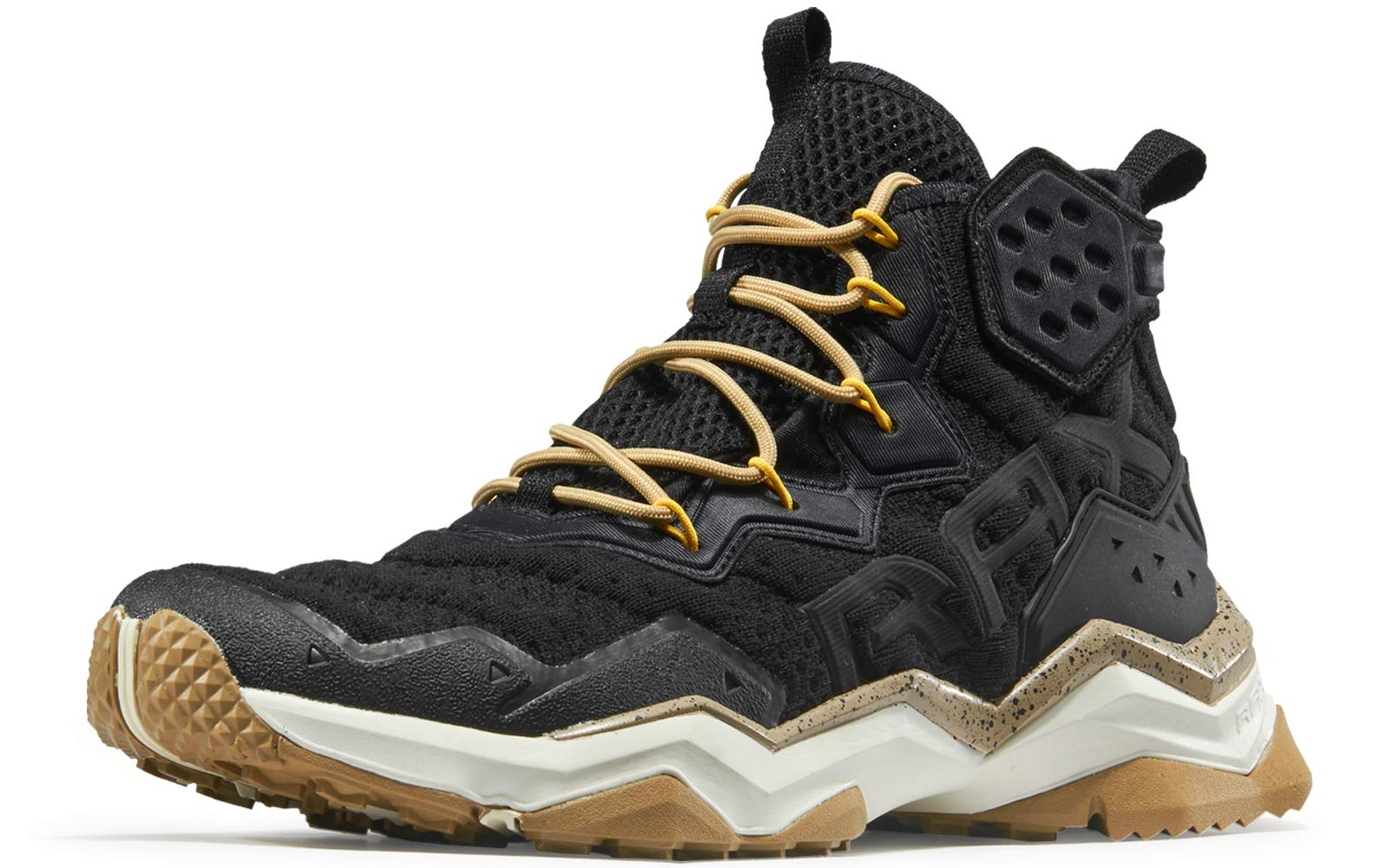 RAX Men's Wolf Outdoor Breathable Hiking Boot Camping Backpacking Shoes Lightweight Sneaker Black by RAX