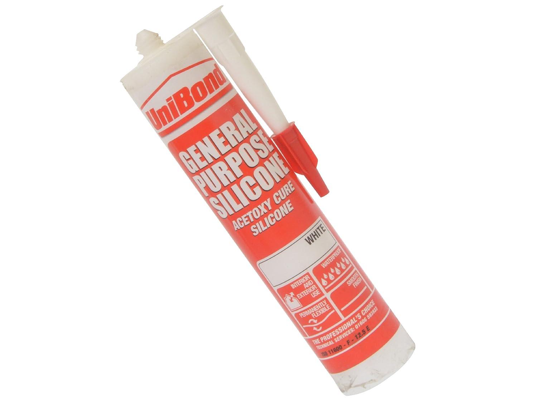 UniBond 1439763 General Purpose Silicone - 300ml, White