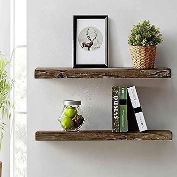 Amazon Com Hsh Furniture Rustic Wall Shelf Reclaimed Solid Wood