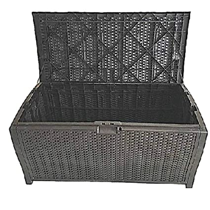 Amazoncom 100 Gallon Outdoor Storage Box Wicker Patio Furniture